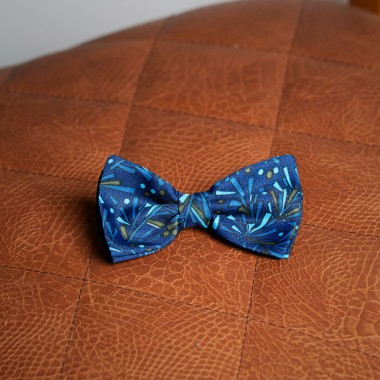 Blue detailed bow tie - product image