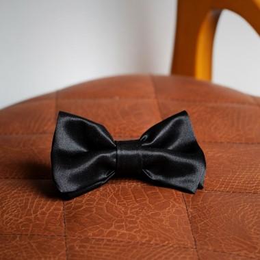 Μαύρο σατέν παπιγιόν - product image