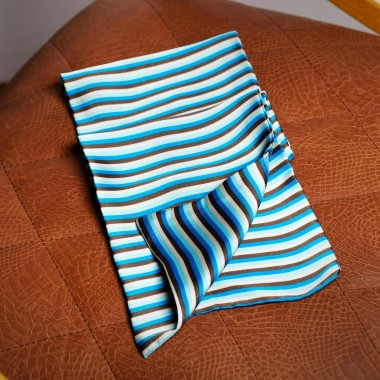 Blue/black/white striped scarf - product image