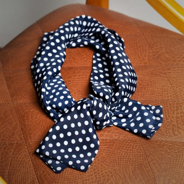 Blue polka dot scarf - product image
