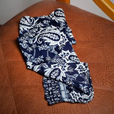 Dark blue paisley scarf - product image