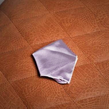 Λευκό/μοβ μαντίλι - product image