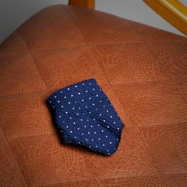 Blue polka dot pocket square - product image