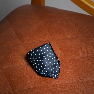 Black polka dot pocket square - product image