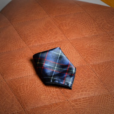 Black checked pocket square - product image