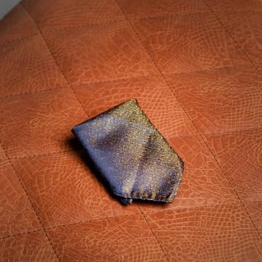Blue/gold pocket square - product image
