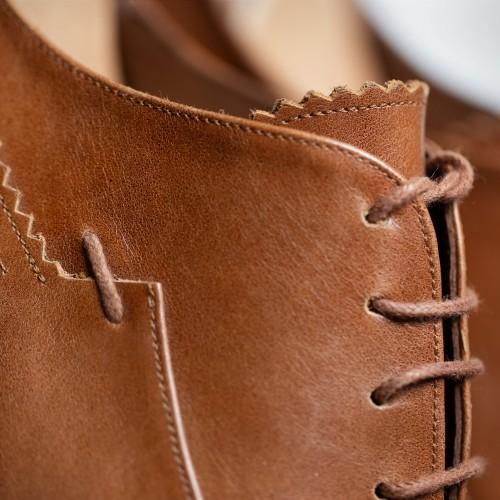 Ανοιχτά καφέ δερμάτινα παπούτσια - product image
