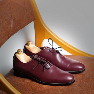 Crimson red leather shoes - product image