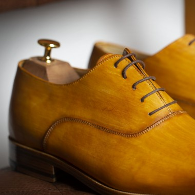 Light brown Patina leather shoes - product image