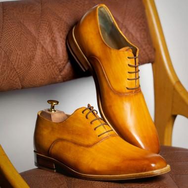 Καφέ Πατίνα δερμάτινα παπούτσια - product image