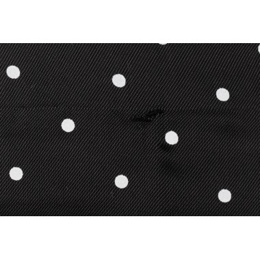 FANCY LINING/BLACK POLKA DOT