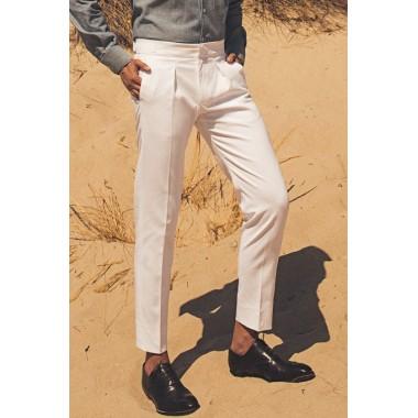 Λευκό ψηλόμεσο παντελόνι - product image