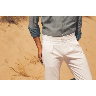 White highwaisted trouser - product image