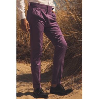 Μοβ ψηλόμεσο παντελόνι - product image