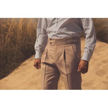 Μπεζ ψηλόμεσο παντελόνι - product image
