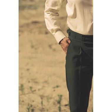 Green highwaisted trouser - product image