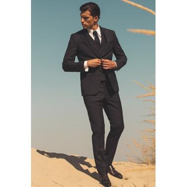 Μπλε/Μαύρο κοστούμι λευκές λεπτομερειές - product image
