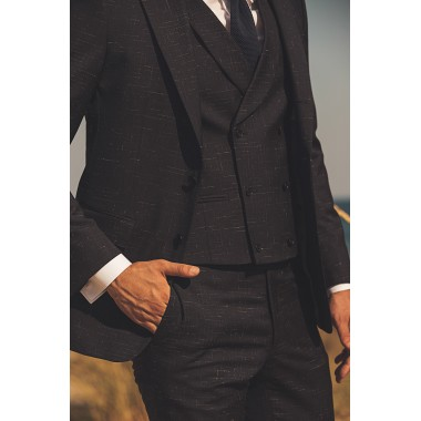 Blue/Black suit with white details - product image