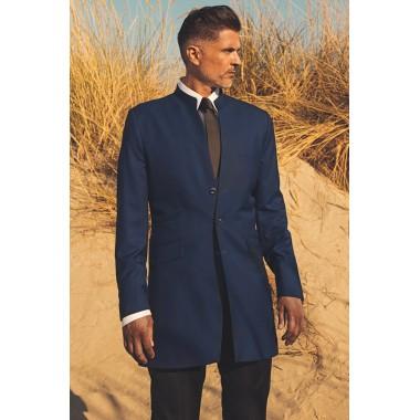 Βασιλικό Μπλε Μακρύ Μάο σακάκι - product image