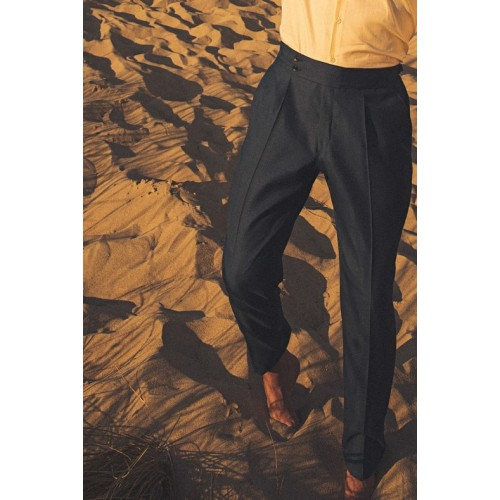 Blue highwaisted trouser - product image