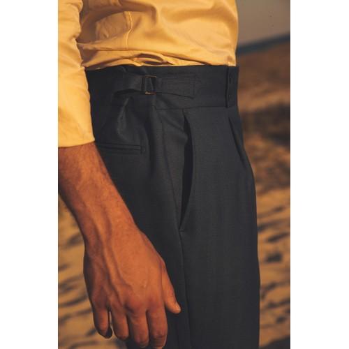 Blue highwaisted trouser - product image