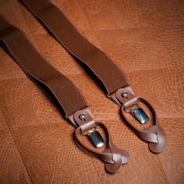 Brown tweed suspenders - product image