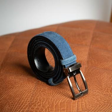 Μπλε δερμάτινη ζώνη - product image