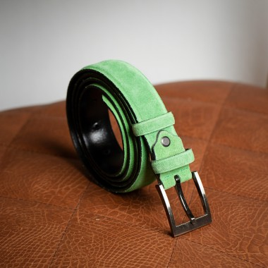 Light green leather belt - product image