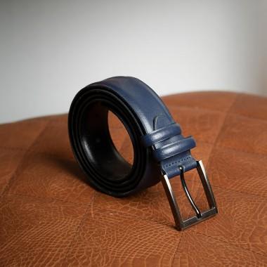 Dark blue leather belt - product image