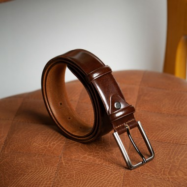 Brown leather belt - product image
