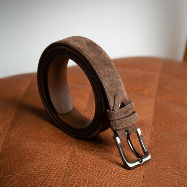 Cocoa leather belt - product image