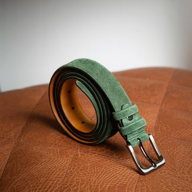 Green leather belt - product image