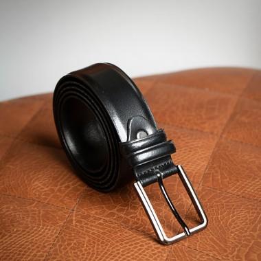 Μαύρη δερμάτινη ζώνη - product image