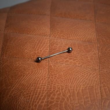 Σκούρη μεταλλική μπάρα γραβάτας - product image