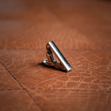 Ασημί κλίπ γραβάτας - product image