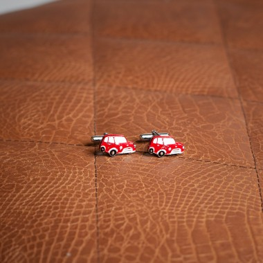 Red Mini  car cufflinks - product image