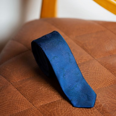 Blue paisley tie - product image