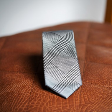 Grey squared tie - product image