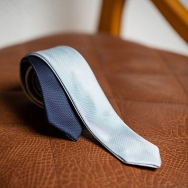Silver/blue four phased tie - product image
