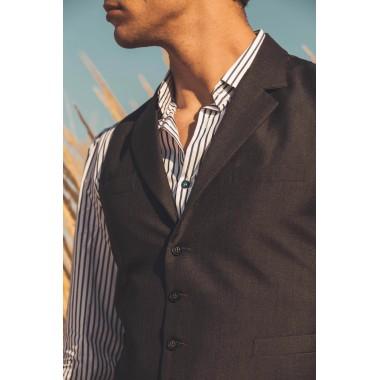 Grey charcoal waistcoat - product image